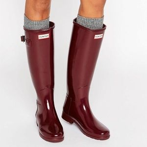 Hunter Original Refined Tall Wellington Boots